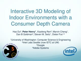 Interactive 3D Modeling of Indoor Environments with a Consumer Depth Camera