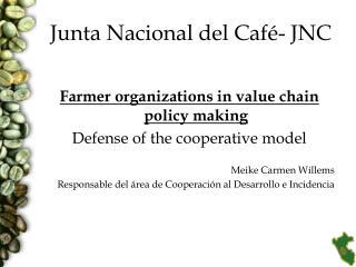 Junta Nacional del Café- JNC