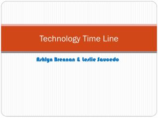 Technology Time Line
