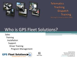Who is GPS Fleet Solutions?