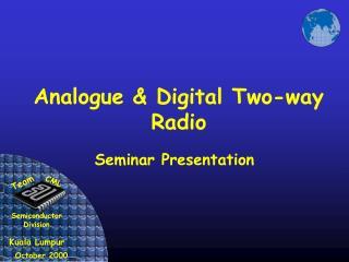 analogue  digital two-way radio