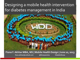 Designing a  mobile health  intervention  for diabetes management in  India
