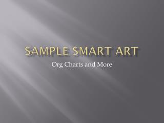 Sample Smart Art