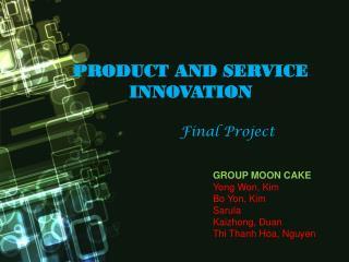 GROUP MOON CAKE Yong Won, Kim Bo Yon, Kim Sarula Kaizhong ,  Duan Thi Thanh Hoa , Nguyen