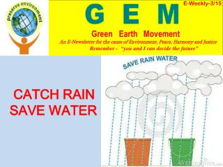 CATCH RAIN    SAVE WATER