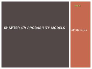 Chapter  17:  probability models