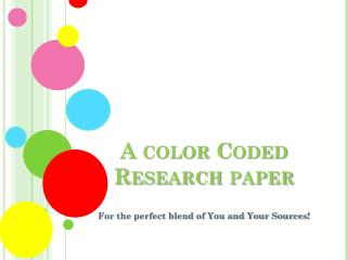 A color Coded Research paper