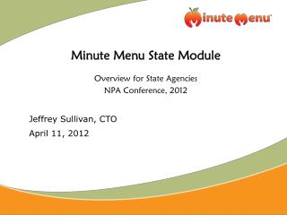 Minute Menu State Module