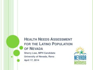 Health Needs Assessment for the Latino Population of Nevada
