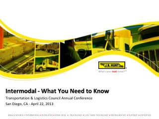 Intermodal - What You Need to Know