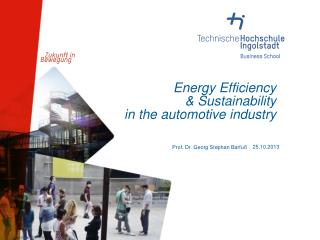 Energy Efficiency & Sustainability  in the automotive industry