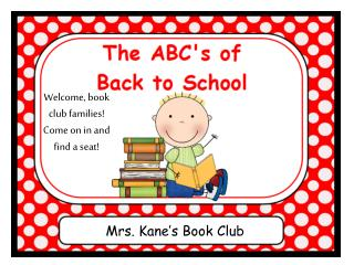 Mrs. Kane�s Book Club