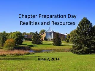 Chapter Preparation Day Realities and Resources