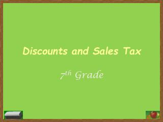 Discounts and Sales Tax