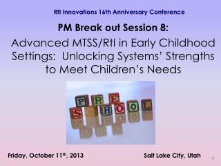 RtI Innovations 16th Anniversary Conference