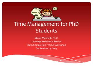 Time Management for PhD Students