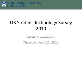 ITS Student Technology Survey 2010