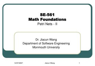 se-561 math foundations petri nets - ii