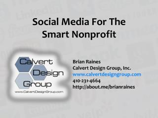 Social Media  For The Smart Nonprofit