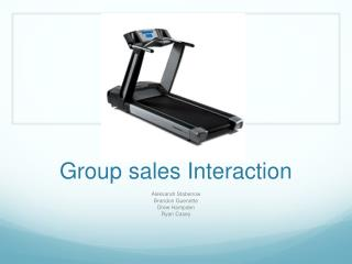 Group sales Interaction
