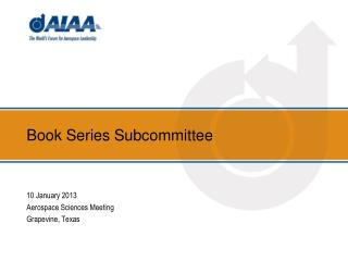Book Series Subcommittee