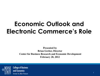 Economic Outlook and Electronic Commerce's Role