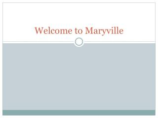 Welcome to Maryville