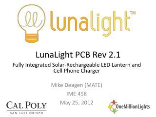 LunaLight PCB Rev 2.1