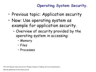 Operating System Security.