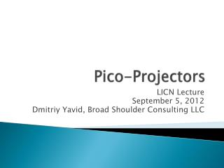 Pico-Projectors