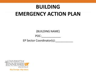 BUILDING EMERGENCY ACTION PLAN