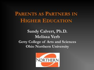 Parents as Partners in Higher Education