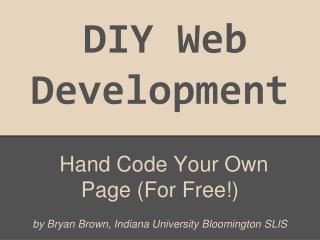 DIY Web Development