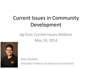 Current Issues in Community Development