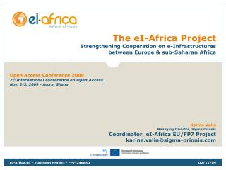the ei-africa project strengthening cooperation on e ...
