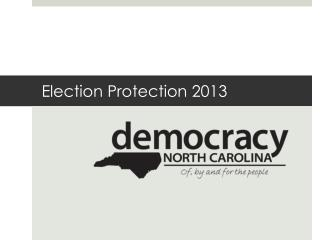 Election Protection 2013