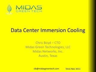 Data Center Immersion Cooling