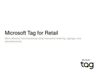 Microsoft Tag for Retail
