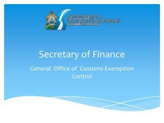 Secretary of  Finance