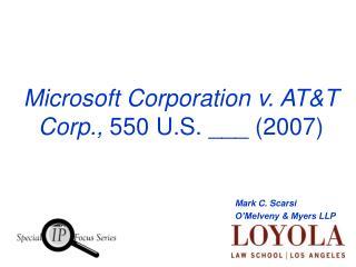 Microsoft Corporation v. ATT Corp.