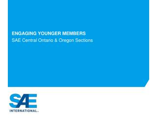 Engaging younger members