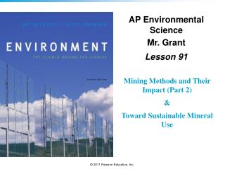AP Environmental Science Mr. Grant Lesson  91