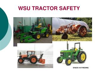 WSU TRACTOR SAFETY
