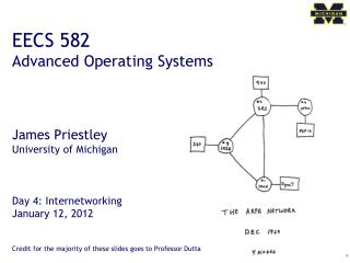 EECS 582 Advanced Operating Systems James Priestley University of Michigan Day  4 :  Internetworking January 12,  2012