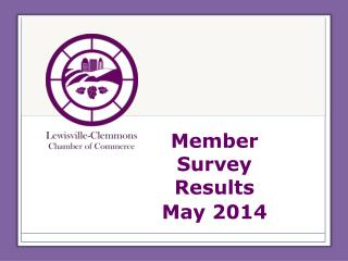 Member Survey Results May 2014