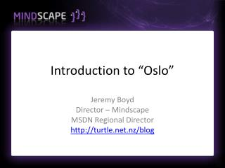 "Introduction to ""Oslo"""