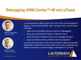 Debugging ARM  Cortex™- M conµTrace