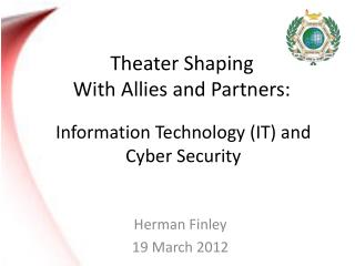 Theater Shaping  With Allies and Partners: