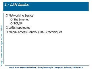 1.- LAN basics