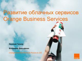 Развитие облачных сервисов  Orange Business Services